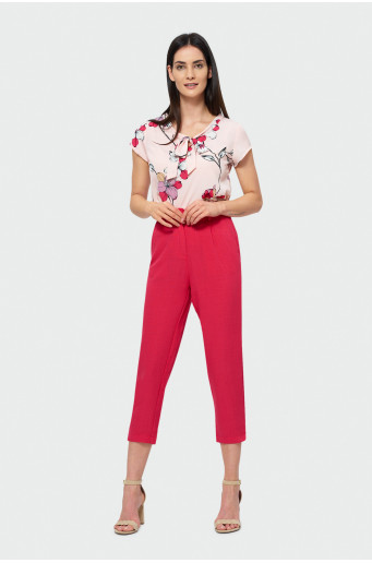 Red 7/8 pants