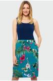 Kvetovaná sukňa