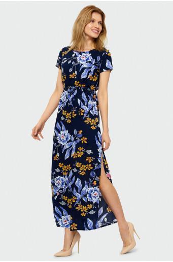 Viskózové kvetované šaty
