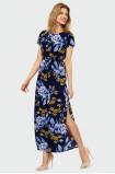 Viskózové květinové šaty