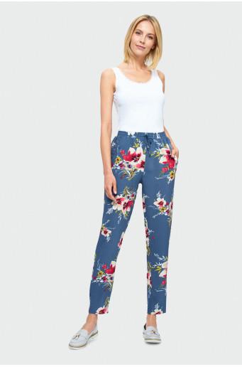 Voľné nohavice s kvetmi