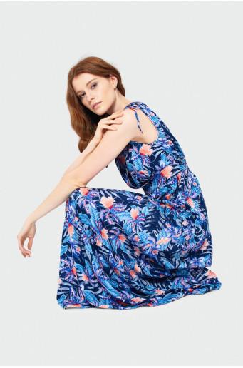Dlhé šaty s volánikom