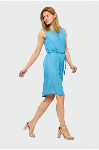 Trapézové šaty bez rukávů