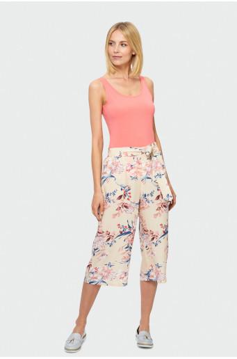 Květované kalhoty kulotky