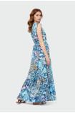 Long dress with flounces