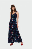 Dlhé šaty s kvetmi