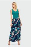 Dlhá kvetovaná sukňa