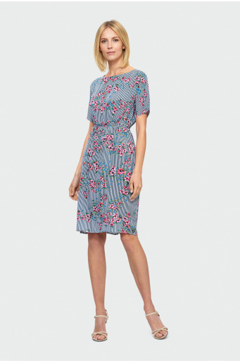 Gauzy over-the-knee dress