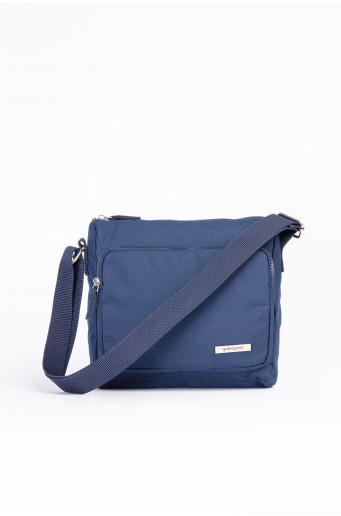 Small navy handbag