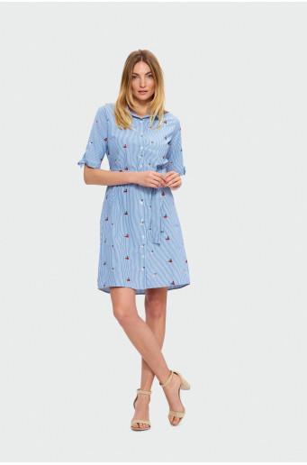 Košilové šaty s límečkem