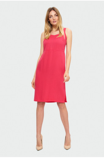 Červené šaty na ramínka