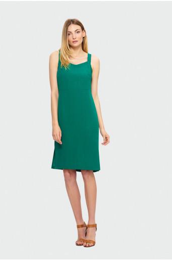 Zelené šaty na ramienkach