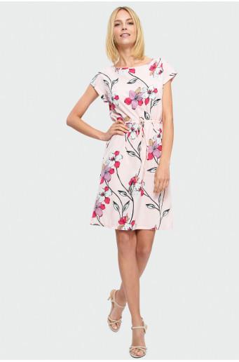 Vzdušné šaty s vázáním v pase