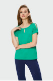 Green decorated top