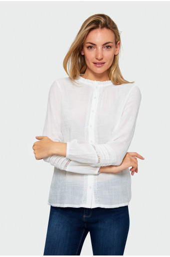 Opening lace blouse