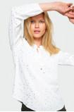 Rayon polka-dot blouse