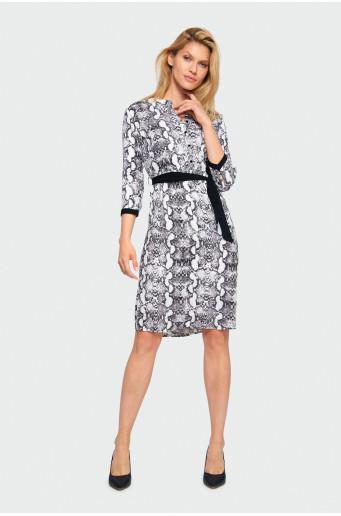 Rayon animal print dress