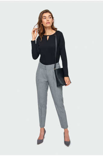 Smart  chequered classic cut trousers
