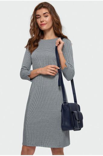 Smart houndstooth dress