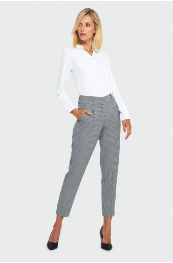 Smart houndstooth trousers
