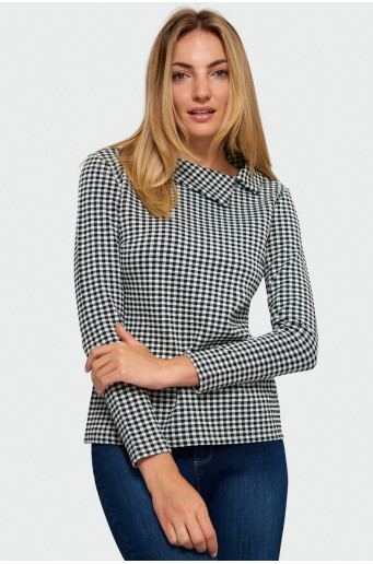 Chequered smart blouse