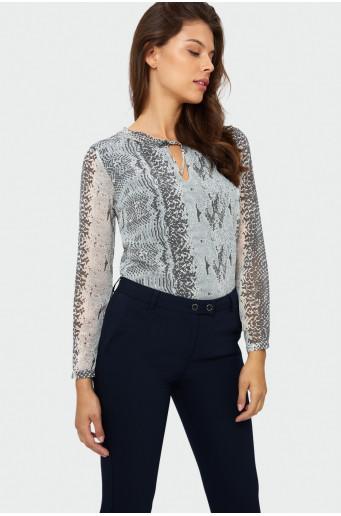 Printed smart blouse
