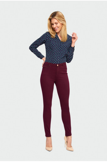 Slim-fit high waist trousers