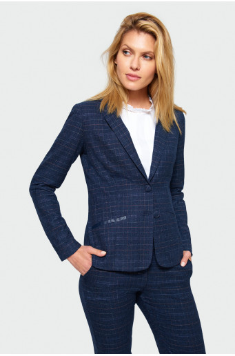 Classic chequered blazer