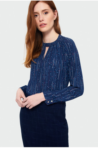 Smart printed blouse