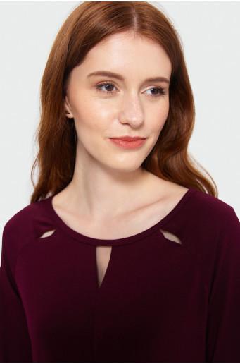Decorative neckline top
