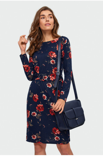 Knitted floral dress