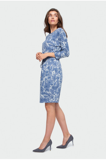 Patterned knitted dress