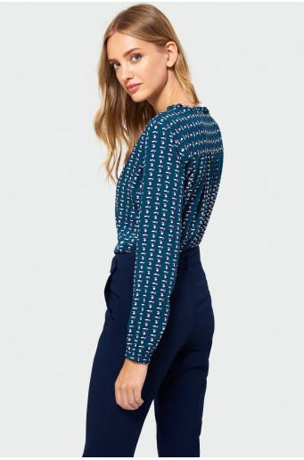 Rayon patterned blouse