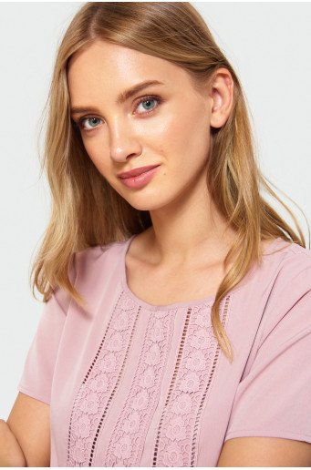 Hemstitch blouse