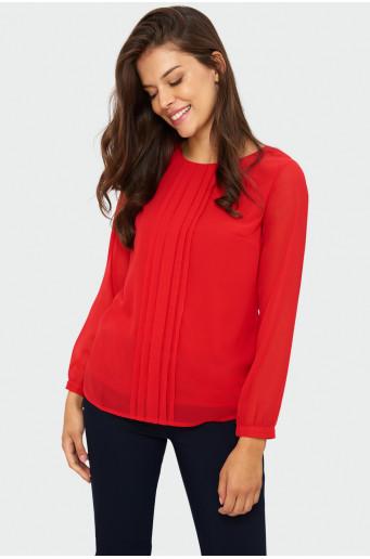 Pleated smart blouse