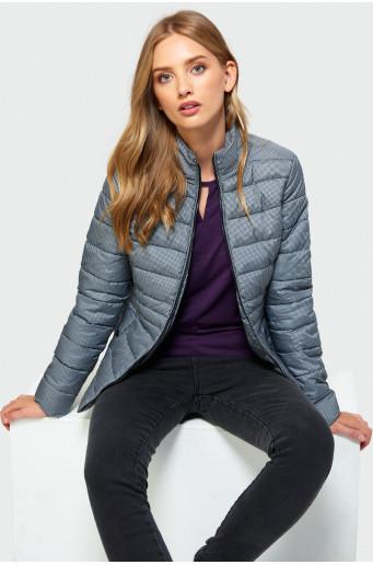 Patterned turtleneck jacket