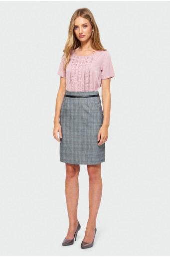 Chequered skirt