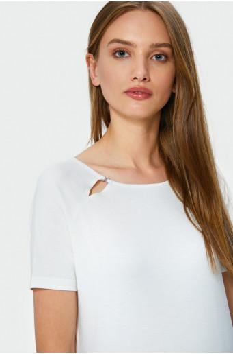 Decorative neckline smart top
