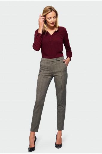 Elegantní kalhoty s kostkovaným vzorem