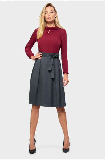 Flared belt skirt