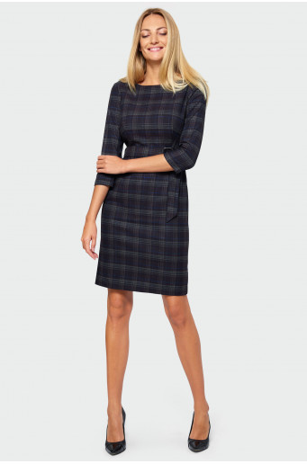 Pencil chequered dress