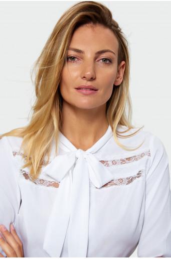 White smart blouse