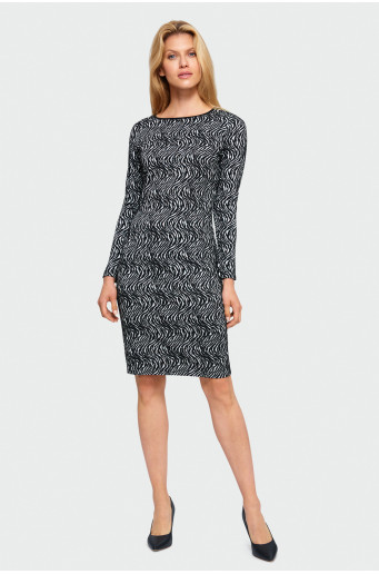 Patterned pencil dress