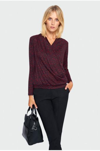 Printed smart sweater
