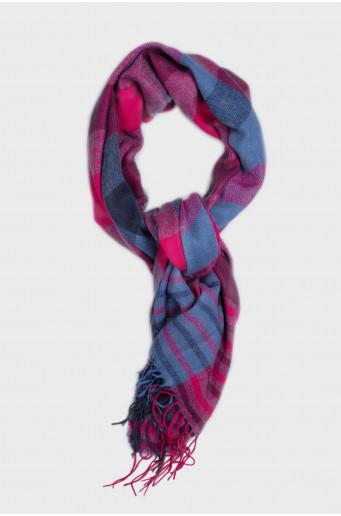 Warm chequered scarf