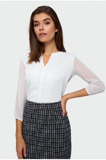 Smart plumeti blouse