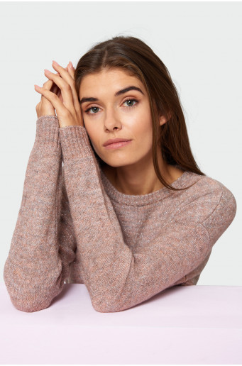 Shimmering strand sweater