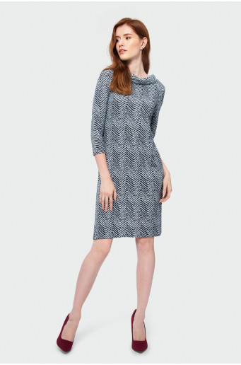 Knitted printed dress