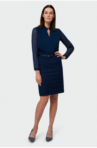 Pencil skirt with belt