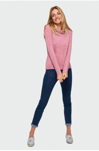 Skin-tight sweater